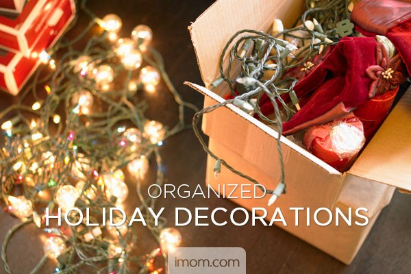 organized holiday decorations