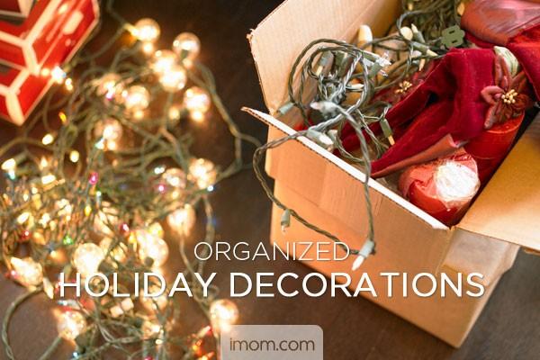 organized holiday decorations