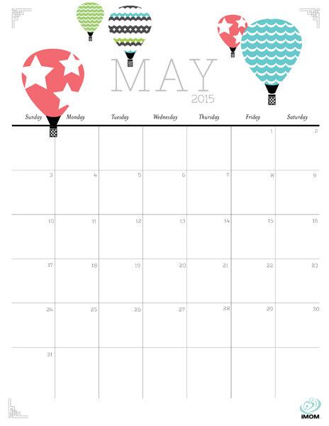 Cute and Crafty 2015 Printable Calendar