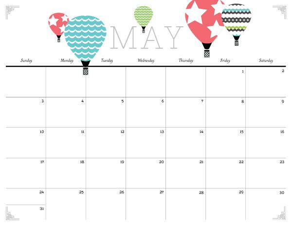 Girly May Calendar 2013 Cute and crafty 2015 printable calendar