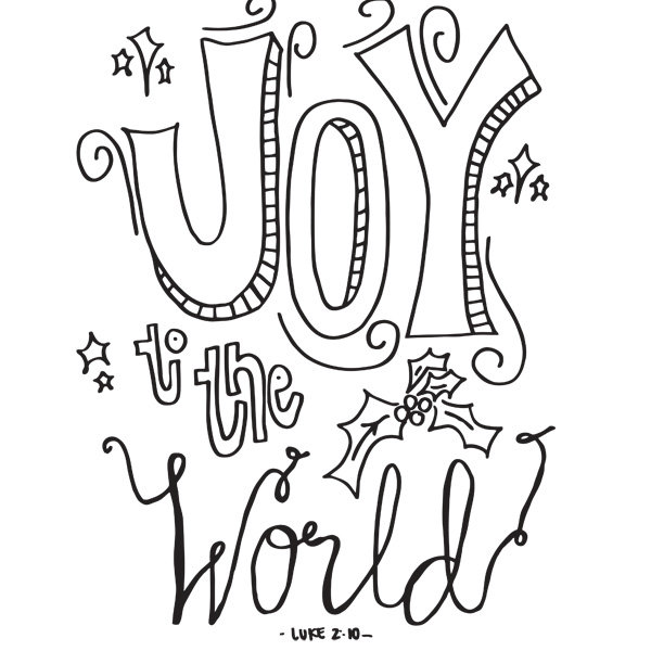 joy coloring page - coloring page joy to the