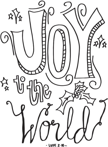3 cute christmas coloring pages imom for Joy coloring pages