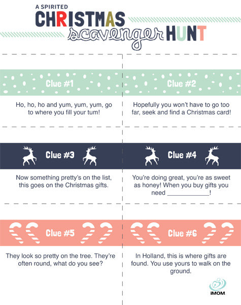 image regarding Christmas Scavenger Hunt Printable Clues identify A Spirited Xmas Scavenger Hunt! - iMom