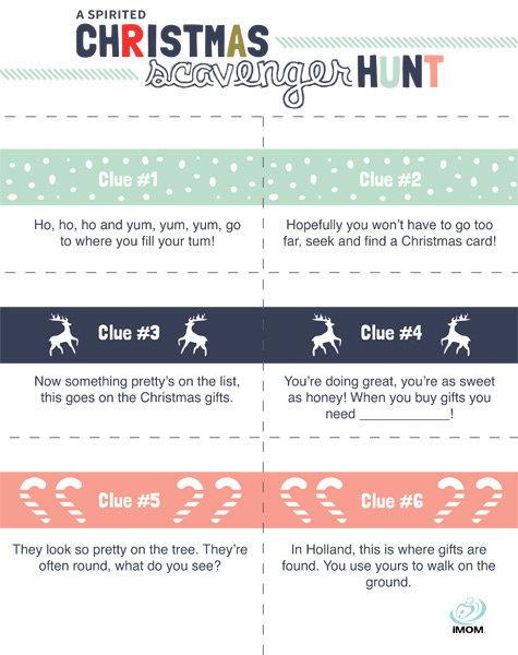 A Spirited Christmas Scavenger Hunt! - iMom