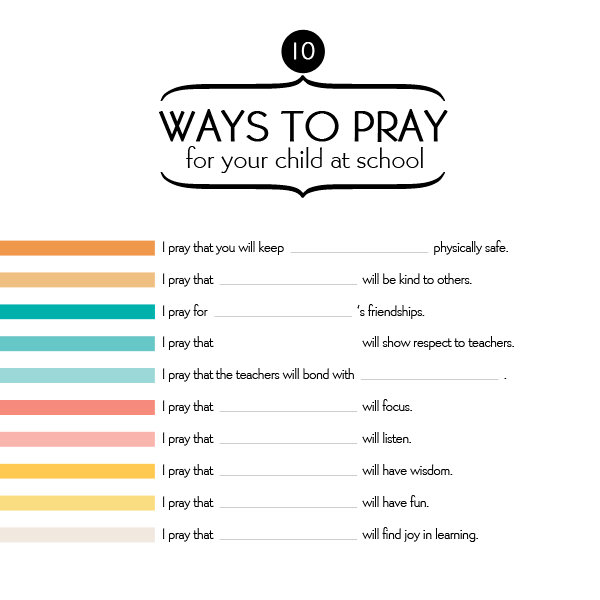 10 Ways to Pray for Your Child at School - iMom
