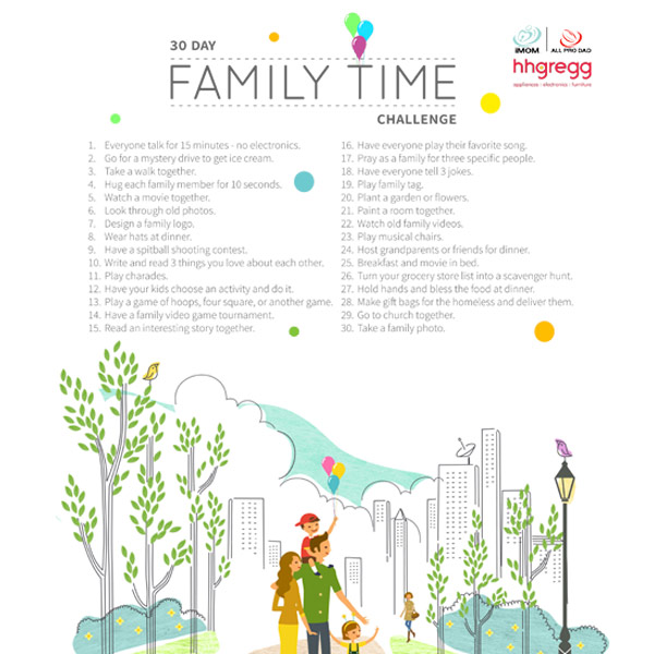 30 Day Family Time Challenge