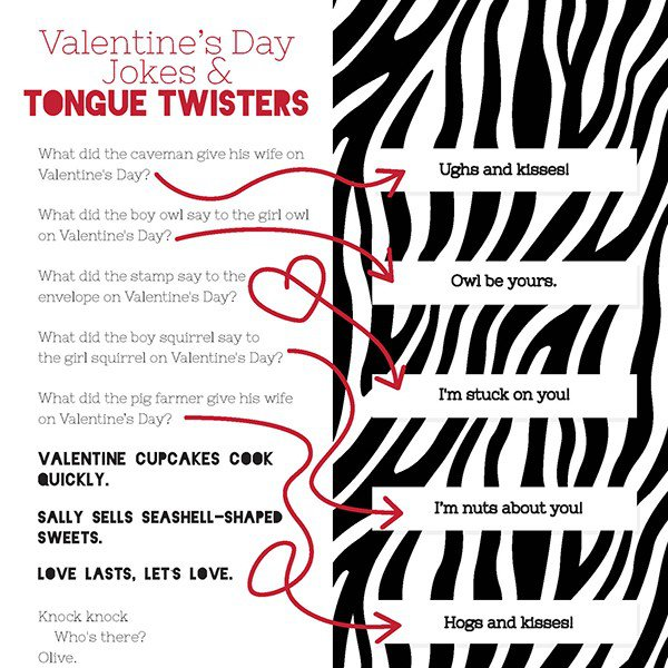 Valentine S Day Jokes And Tongue Twisters Imom