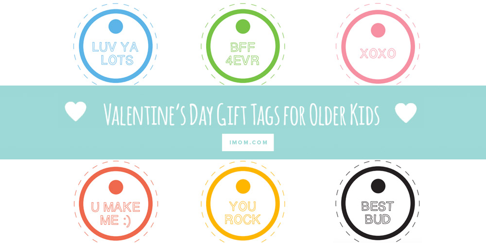 Valentine\'s Day Gift Tags - iMom