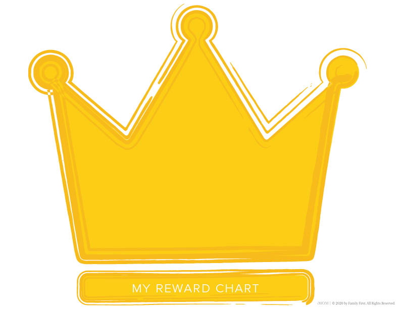 printable reward charts crown