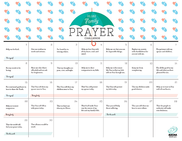 30 day family prayer challenge