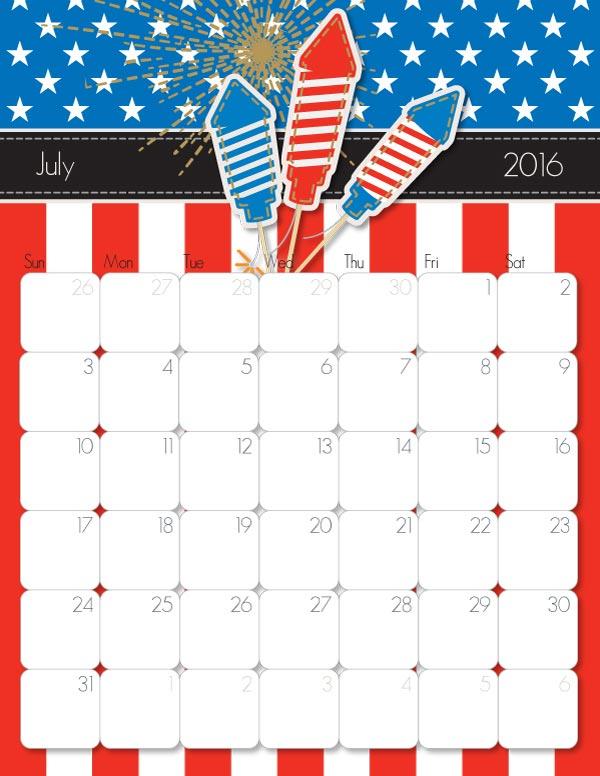 2016 Printable Calendar – Free Printable Calendar Handmade by iMOM