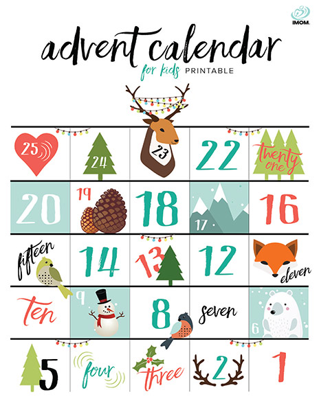 Printable Advent Calendar For Kids Imom