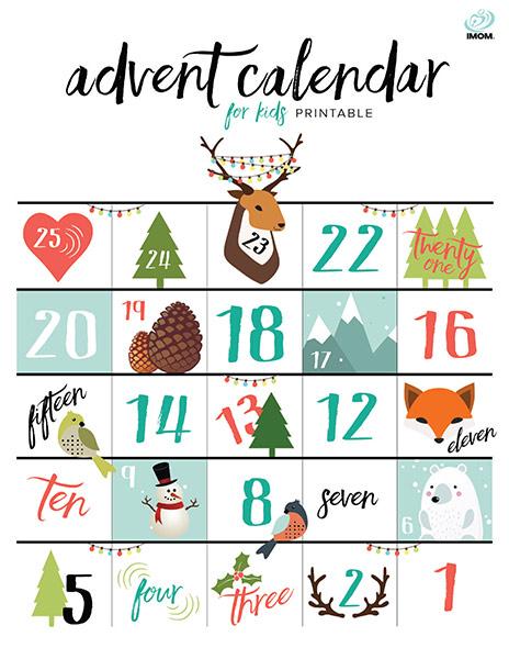 Calendar Pictures For Kids : Printable advent calendar for kids imom