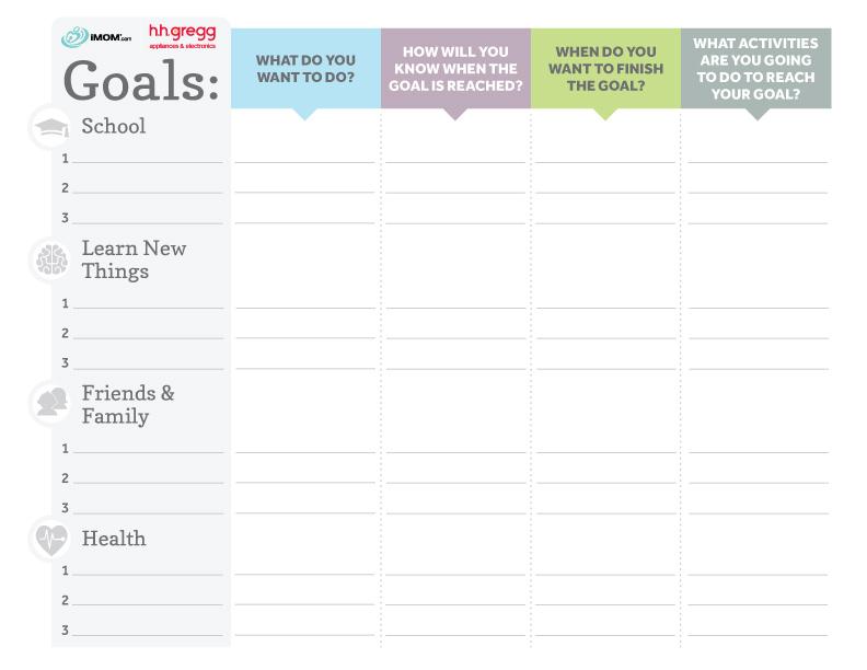 Brilliant Goals Chart for Kids - iMom