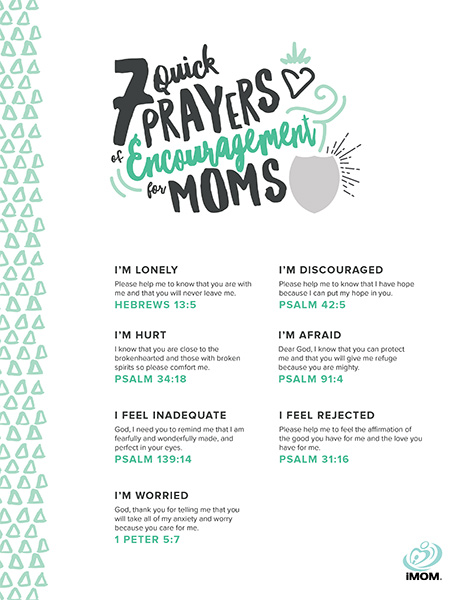 7 Quick Prayers Of Encouragement For Moms Imom