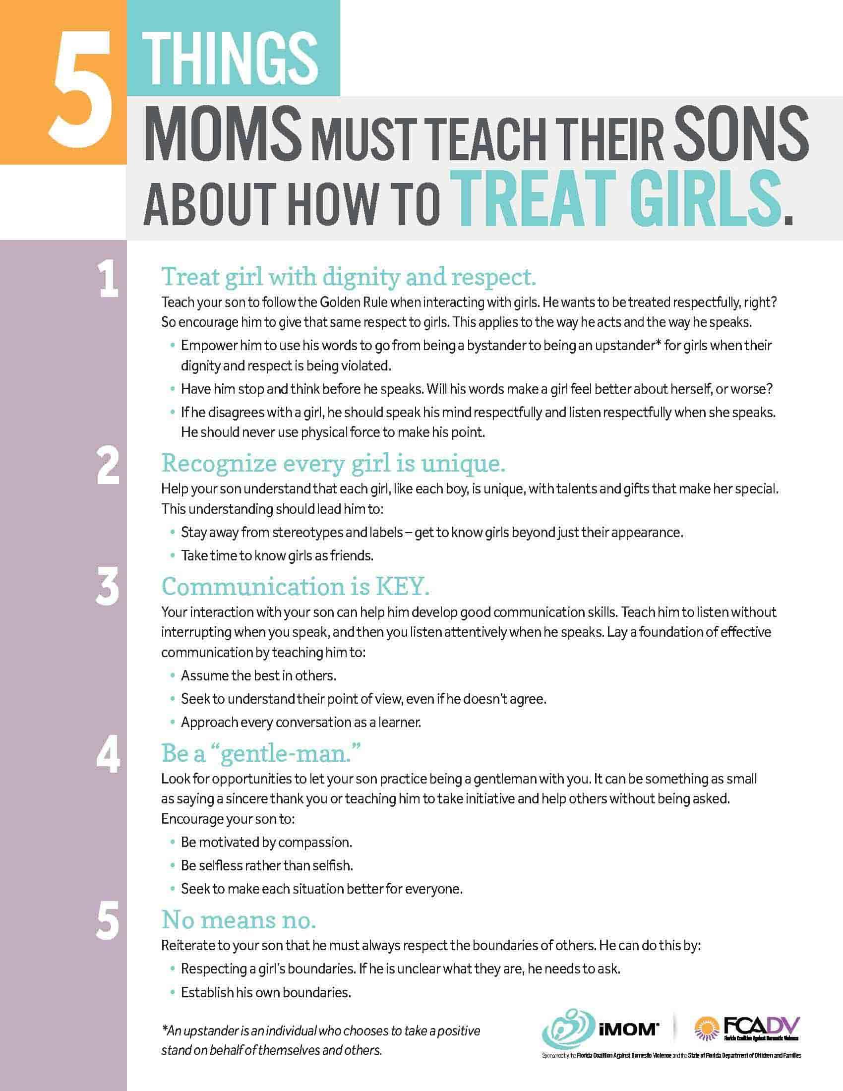 5 Things Moms Must Teach Their