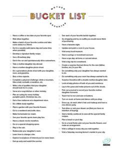 mother daughter date ideas bucket list