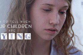 children lying