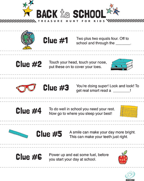 Back To School Treasure Hunt For Kids Imom