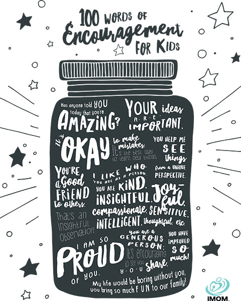 100 words of encouragement for kids imom
