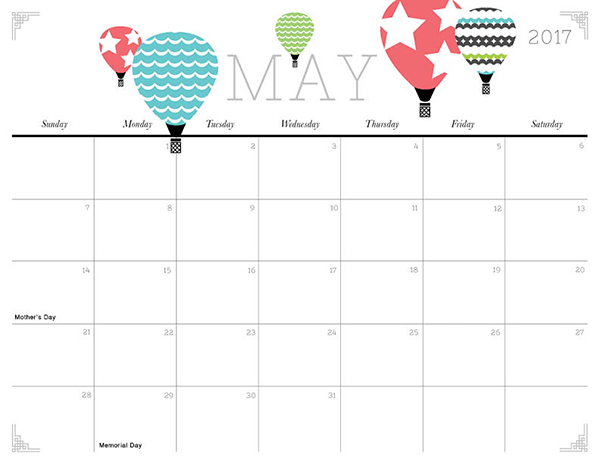 Cute And Crafty  Printable Calendar  Imom