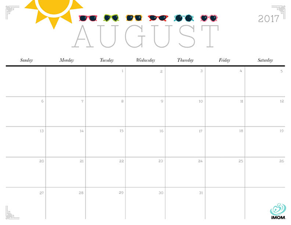 Cute and Crafty 2017 Printable Calendar - iMom