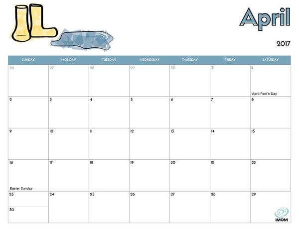 Printable Coloring Calendar 2017 Free : 2017 printable calendar for kids imom