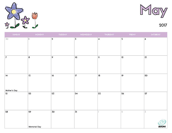 Printable Calendar For Kids  Imom