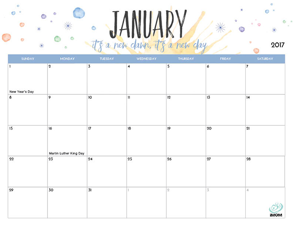 Printable Calendar For Moms  Imom