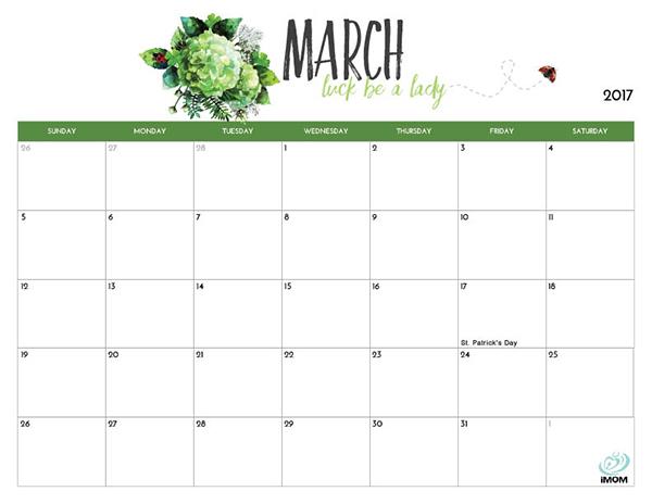 printable calendar 2017 and 2017