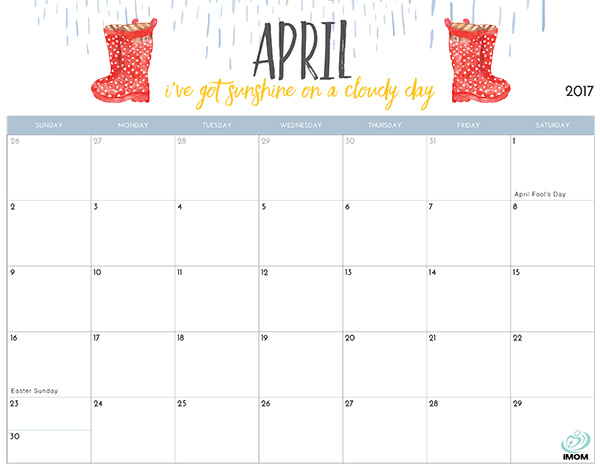 2017 Printable Calendar For Moms - Imom