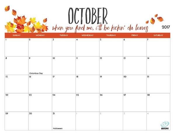 Coloring Page Calendar