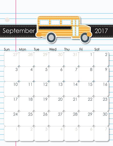 calendar october 2017 printable - Vertola