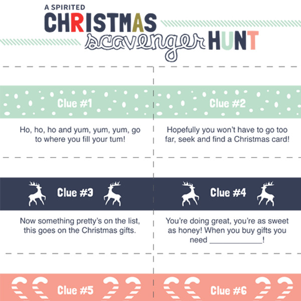 graphic relating to Christmas Scavenger Hunt Printable Clues identify A Spirited Xmas Scavenger Hunt! - iMom