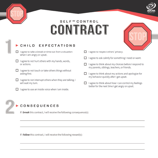 picture relating to Printable Teenage Chore Contract named Cost-free Printable Contracts for Children and Teens! - iMOM