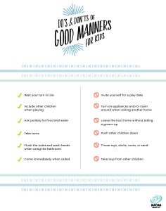 good manners printables for kids imom
