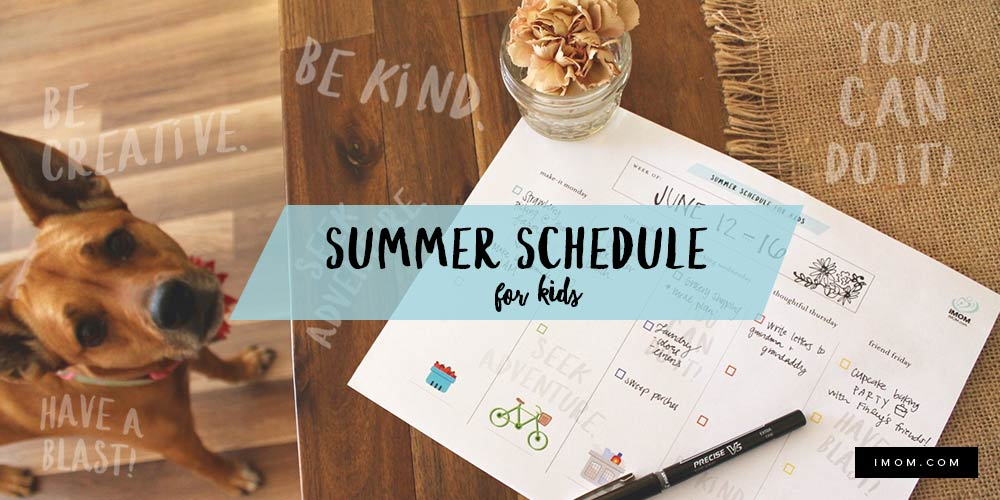 The Schedule That Saved Our Summer Imom