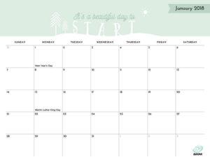 2018 Printable Calendar Imom