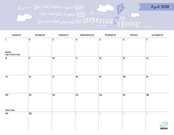 positive thoughts printable 2018 calendar imom
