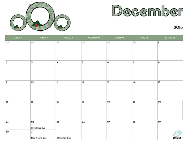 2018 Free Printable Calendar For Kids IMom