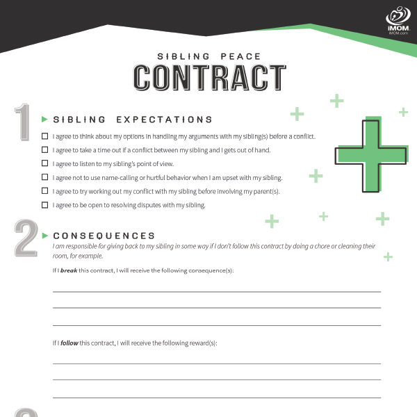 Printable Contracts For Kids And Teenagers Inside Printable Contracts