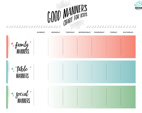 manners reward chart