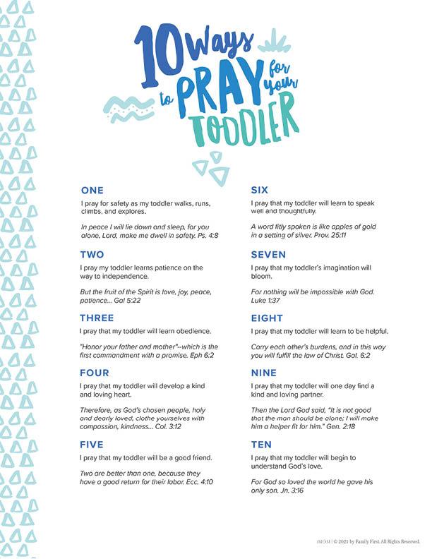 prayer for our children