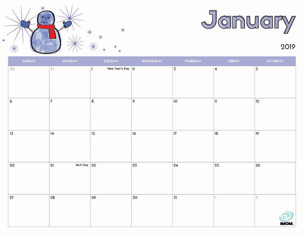 January 2019 Behavior Calendar 2019 Free Printable Calendar for Kids   iMom