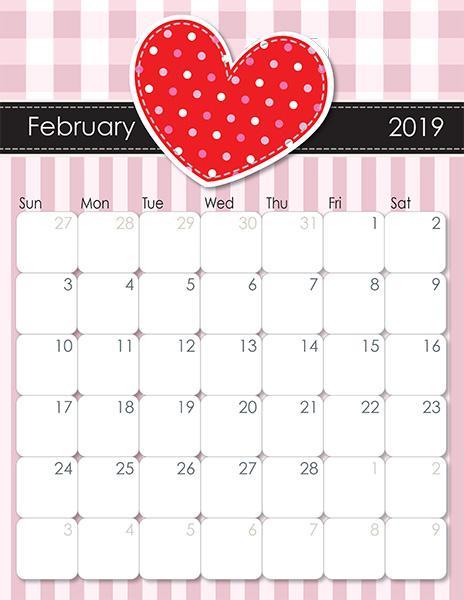 February Heart 2019 Calendar IMOM's Whimsical 2019 Printable Calendar   iMom
