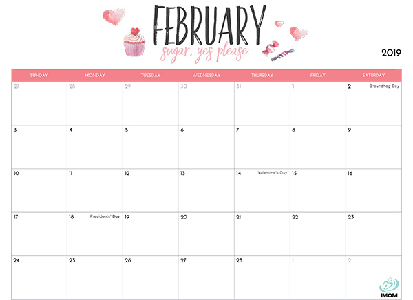 2019 Printable Calendar For Moms Imom