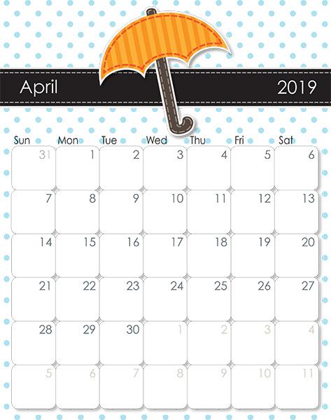 IMOM's Whimsical 2019 Printable Calendar - iMom