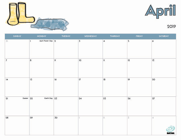 photo relating to Printable Calendar Kids known as 2019 Absolutely free Printable Calendar for Youngsters - iMom