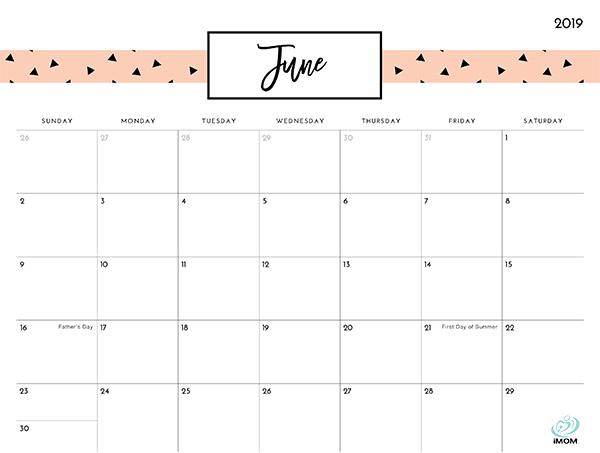 pretty patterns 2019 printable calendar