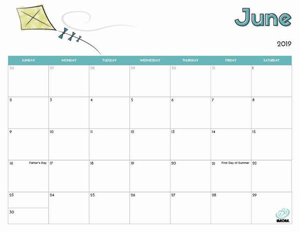 2019 Free Printable Calendar for Kids - iMom